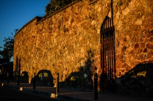 Orange Light on the Park walls