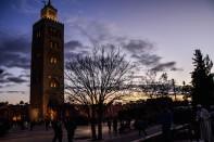 Beautiful Koutoubia Mosque by night