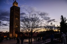 Beautiful Koutoubia Mosque by night