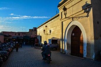Blue skies inside the Medina