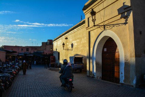 Blue skies inside the Medina