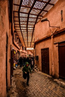 Narrow souks of Marrakech