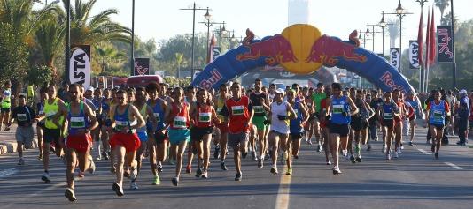 Marrakech race start line