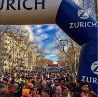 Barcelona half marathon start line